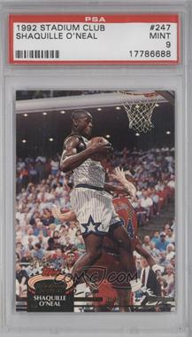 1992-93 Topps Stadium Club #247 - Shaquille O'Neal [PSA 9]
