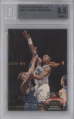1992-93 Topps Stadium Club #297 - Alonzo Mourning [BGS 8.5]