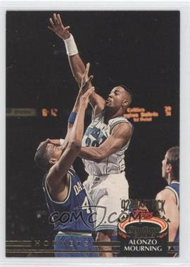 1992-93 Topps Stadium Club #297 - Alonzo Mourning