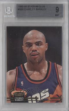 1992-93 Topps Stadium Club #360 - Charles Barkley [BGS 9]