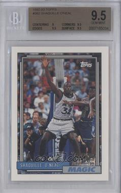 1992-93 Topps #362 - Shaquille O'Neal [BGS 9.5]