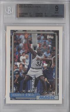 1992-93 Topps #362 - Shaquille O'Neal [BGS 9]