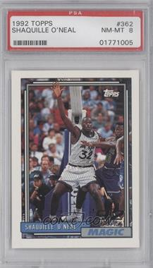1992-93 Topps #362 - Shaquille O'Neal [PSA 8]