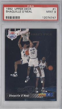 1992-93 Upper Deck - [Base] #1 - Shaquille O'Neal [PSA9]