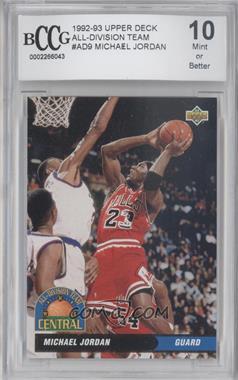 1992-93 Upper Deck All-Division Team #AD9 - Michael Jordan [ENCASED]
