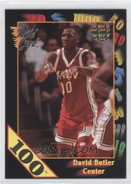 1992 Wild Card Collegiate - [Base] - 100 Stripe #114 - David Butler