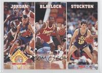 League Leaders Steals (Michael Jordan, Mookie Blaylock, John Stockton)