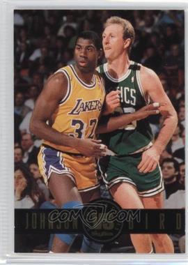 1993-94 Skybox Premium - Showdown Series #SS12 - Magic Johnson, Larry Bird