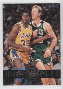1993-94 Skybox Premium Showdown Series #SS12 - Magic Johnson, Larry Bird