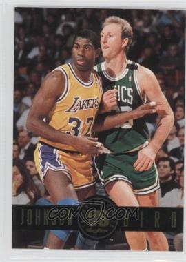 1993-94 Skybox Premium Showdown Series #SS12 - Magic Johnson, Larry Bird