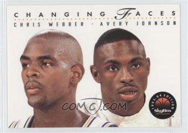 1993-94 Skybox Premium #300 - Chris Webber, Avery Johnson