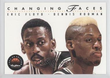 1993-94 Skybox Premium #315 - Eric Floyd, Dennis Rodman