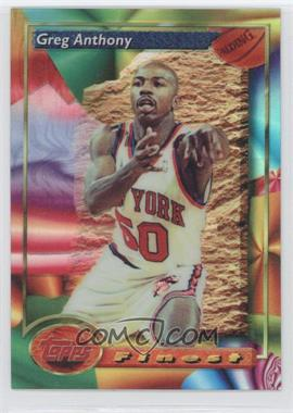 1993-94 Topps Finest Refractor #66 - Greg Anthony