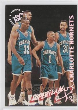 1994-95 Topps Stadium Club NBA Super Team Redemptions #3 - Charlotte Hornets Team