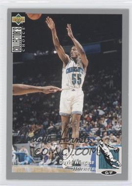 1994-95 Upper Deck Collector's Choice - [Base] - Silver Signature #255 - David Wingate