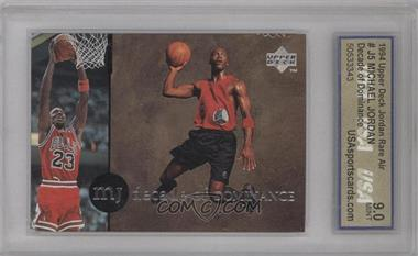 1994-95 Upper Deck Collector's Choice International MJ Decade of Dominance Italian #J5 - Michael Jordan [ENCASED]