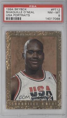 1994 Skybox USA Basketball Portraits #PT12 - Shaquille O'Neal [PSA8]