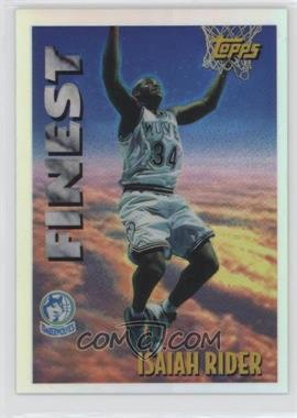 1995-96 Topps - Mystery Finest - Refractor #M 21 - Isaiah Rider