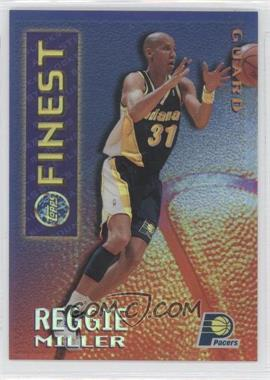 1995-96 Topps Finest - Mystery Finest - Borderless Refractor/Gold #M 14 - Reggie Miller