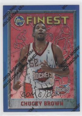 1995-96 Topps Finest Refractor #141 - Chucky Brown