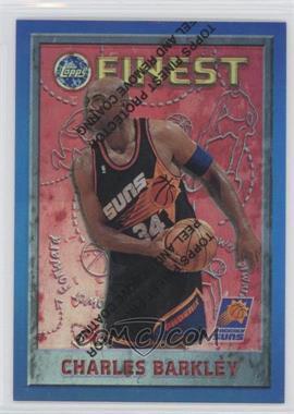 1995-96 Topps Finest Refractor #34 - Charles Barkley