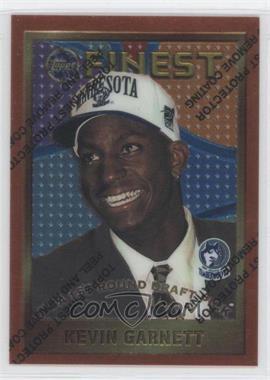 1995-96 Topps Finest #115 - Kevin Garnett