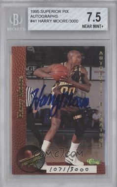 1995 Classic Superior Pix Autographs #41 - Harry Moore /3000 [BGS 7.5]