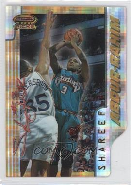 1996-97 Bowman's Best Picks Atomic Refractor #BP7 - Shareef Abdur-Rahim
