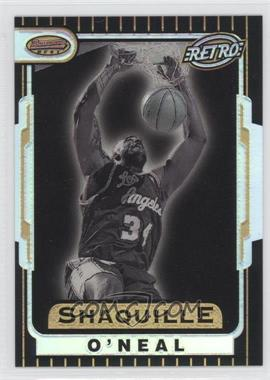1996-97 Bowman's Best Retro Refractor #TB8 - Shaquille O'Neal