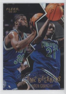 1996-97 Fleer - Game Breakers #9 - Isaiah Rider, Kevin Garnett