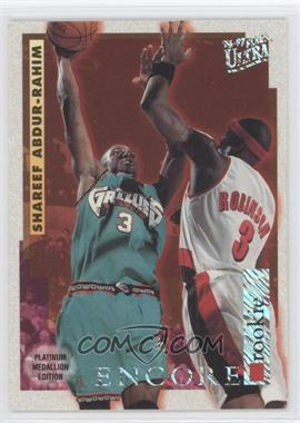 1996-97 Fleer Ultra Platinum Medallion Edition #P-264 - Shareef Abdur-Rahim
