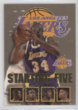 1996-97 NBA Hoops - Starting Five #13 - Shaquille O'Neal, Elden Campbell, Nick Van Exel, Eddie Jones, Cedric Ceballos (Los Angeles Lakers)
