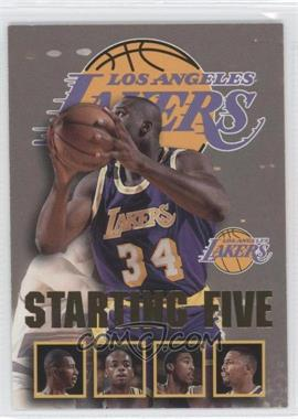 1996-97 NBA Hoops Starting Five #13 - Shaquille O'Neal, Elden Campbell, Nick Van Exel, Eddie Jones, Cedric Ceballos (Los Angeles Lakers)