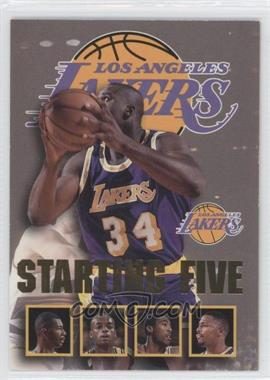 1996-97 NBA Hoops Starting Five #13 - Shaquille O'Neal, Elden Campbell, Nick Van Exel, Eddie Jones, Cedric Ceballos