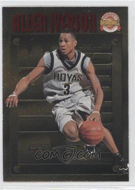 1996-97 Score Board Autographed Basketball Pure Performance Gold #PP1 - Allen Iverson