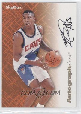 1996-97 Skybox Premium - Autographics - Black Ink [Autographed] #BOPH - Bobby Phills