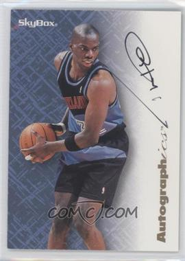 1996-97 Skybox Premium - Autographics - Black Ink [Autographed] #TYHI - Tyrone Hill