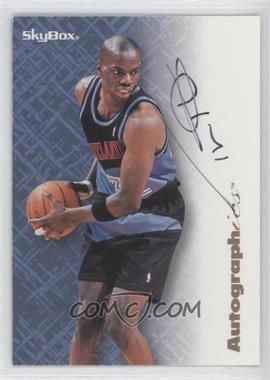 1996-97 Skybox Premium Autographics Black Ink [Autographed] #TYHI - Tyrone Hill