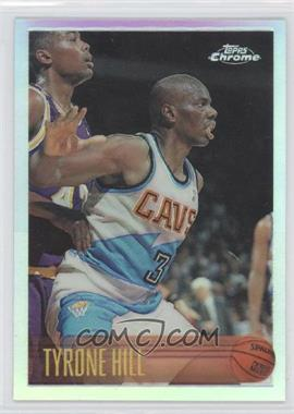 1996-97 Topps Chrome Refractor #185 - Tyrone Hill