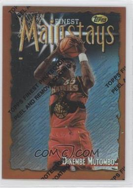 1996-97 Topps Finest Refractor #196 - Dikembe Mutombo