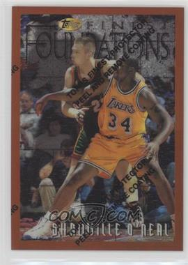 1996-97 Topps Finest Refractor #243 - Shaquille O'Neal
