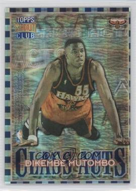 1996-97 Topps Stadium Club - Class Acts - Atomic Refractor #CA 10 - Allen Iverson, Dikembe Mutombo