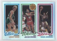 Larry Bird, Julius Erving, Magic Johnson