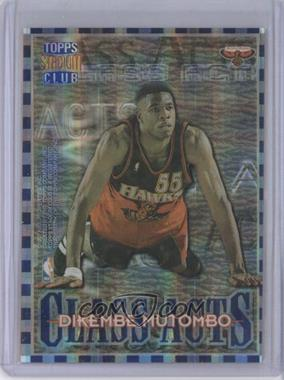 1996-97 Topps Stadium Club Class Acts Atomic Refractor #CA 10 - Allen Iverson, Dikembe Mutombo