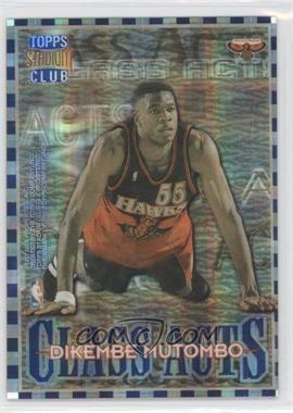 1996-97 Topps Stadium Club Class Acts Atomic Refractor #CA 10 - Dick Murphy, Allen Iverson, Dikembe Mutombo