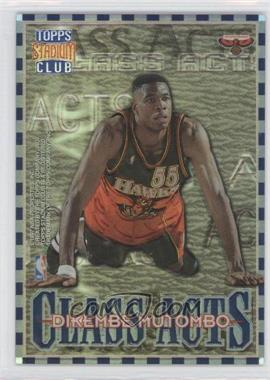 1996-97 Topps Stadium Club Class Acts Refractor #CA 10 - Allen Iverson, Dikembe Mutombo