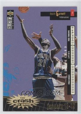1996-97 Upper Deck Collector's Choice International French - You Crash the Game - Gold #C16 - Kevin Garnett