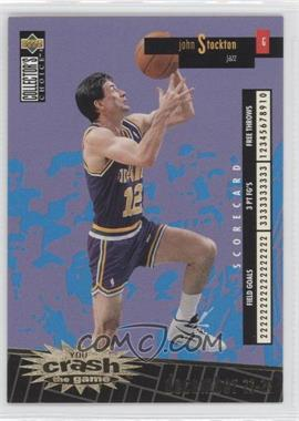 1996-97 Upper Deck Collector's Choice International French - You Crash the Game - Gold #C27 - John Stockton