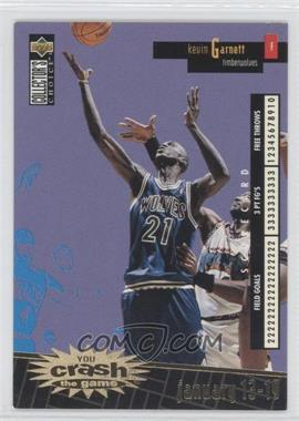 1996-97 Upper Deck Collector's Choice International Italian - Crash the Game - Gold #C16 - Kevin Garnett