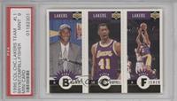 Kobe Bryant, Elden Campbell, Derek Fisher [PSA9]